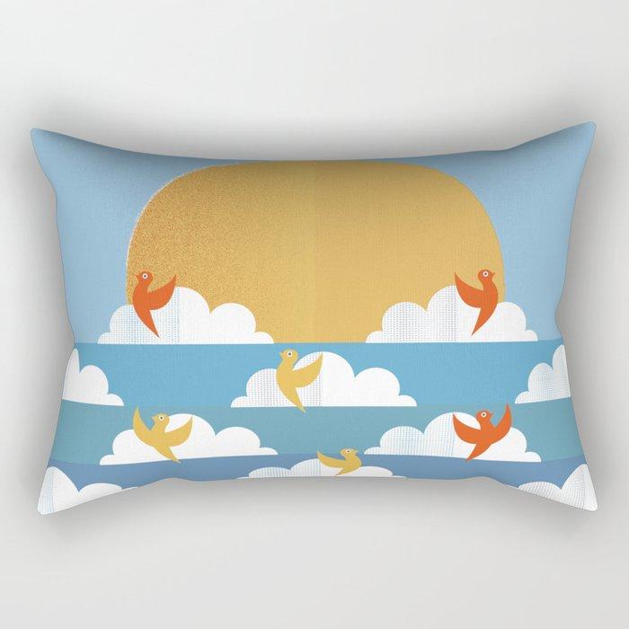 Birds Flying High Rectangular Pillow