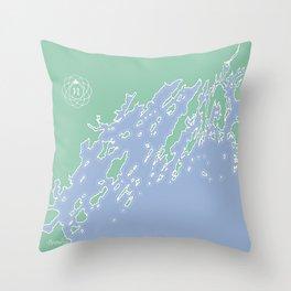 Casco Bay Maine USA Throw Pillow