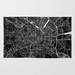 Milan Black Map Rug