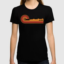 Retro Style Cheyenne Wyoming Skyline T-shirt