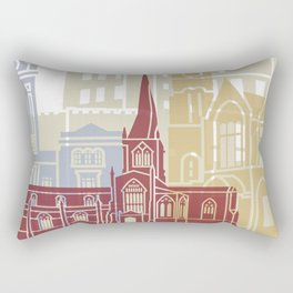 Chesterfield UK skyline poster Rectangular Pillow