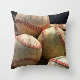 Baseballs and Glove Throw Pillow