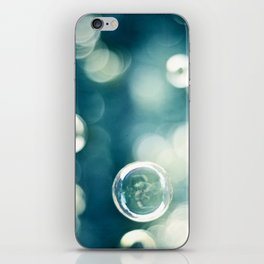 Bubble Photography, Teal Bathroom Art, Turquoise Aqua Laundry Photo iPhone Skin