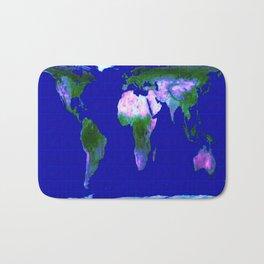 World Map : Gall Peters Bath Mat
