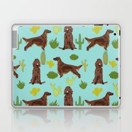 Irish Setter cactus southwest desert dog breed cute gift for dog lover pupper portrait pattern gifts Laptop & iPad Skin