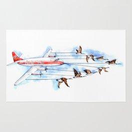 Air Canada Goose Rug