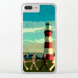 The Fab Four take a stroll onboard Plymouth Hoe Clear iPhone Case