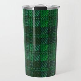 Dark Green Tartan Travel Mug