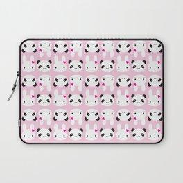 Super Cute Kawaii Bunny and Panda (Pink) Laptop Sleeve