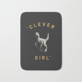 Clever Girl (Dark) Bath Mat