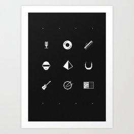 Tribute to Daft Punk, B&W. Art Print