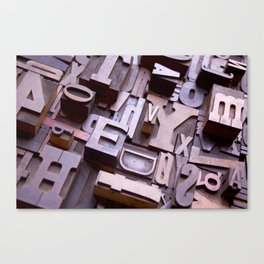 3D Letters - Typography Photography™ Canvas Print
