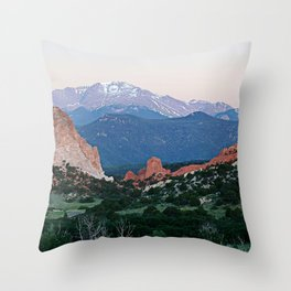 Sunrise at Garden of the Gods and Pikes Peak Throw Pillow