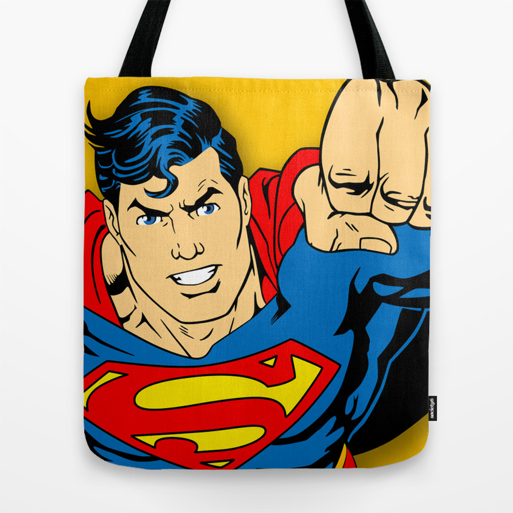 Super Man Comic Tote Bag by Israel27 TBG8744476