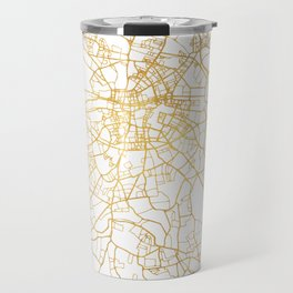 DUBLIN IRELAND CITY STREET MAP ART Travel Mug