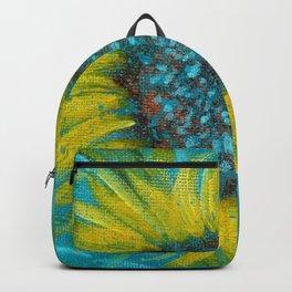 Sunflowers on Turquoise II Backpack