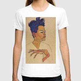 SELF PORTRAIT WITH HANDS ON CHEST - EGON SCHIELE T-shirt