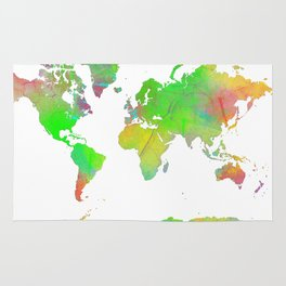 World Map 7 Rug