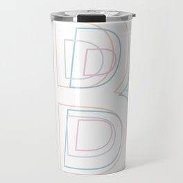 Intertwined Strength and Elegance of the Letter B Travel Mug
