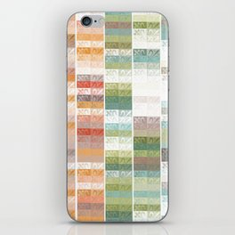 Lily pattern iPhone Skin