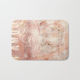 From Paris With Love In Salmon-Rosé Bath Mat