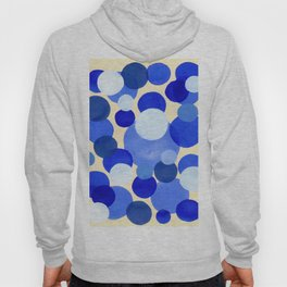 Colorful Blue White Watercolor Bubbles Hoody