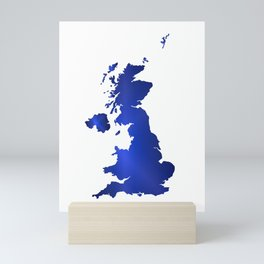 United Kingdom Map silhouette Mini Art Print