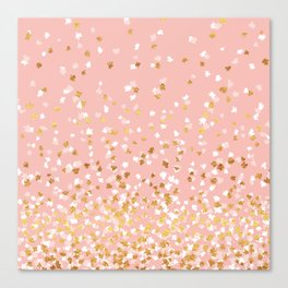 Floating Confetti - Pink II Canvas Print