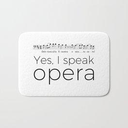 I speak opera (baritone) Bath Mat