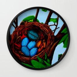 Robin Blue Wall Clock