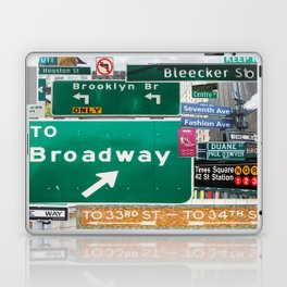 New York City Streets Laptop & iPad Skin