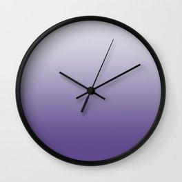 Ombré Ultra Violet Gradient Motif Wall Clock