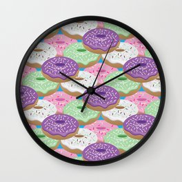 Glazed Donuts Wall Clock