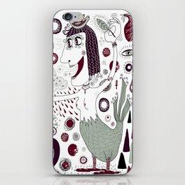 The Bird Lady Cometh iPhone Skin