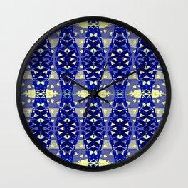 Tower Bridge Yellow Blue Abstract Pattern Wall Clock