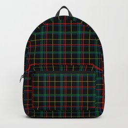 Red and green plaid Backpack