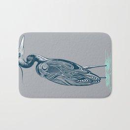 Bewitching blue heron Bath Mat