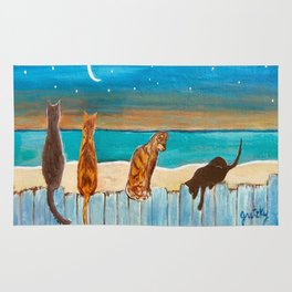Cats on a Fence Rug