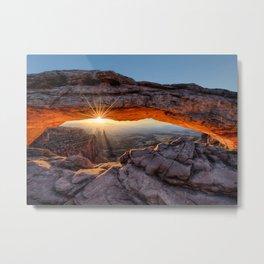 Mesa Arch Sunburst  by Lena Owens Metal Print