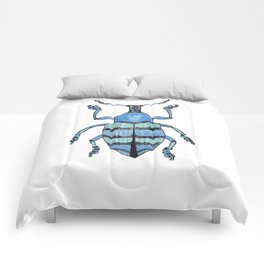 Upholstered Blue Weevil Comforters