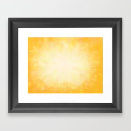 Golden Sunburst Framed Art Print