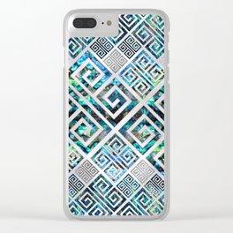 Greek Meander Pattern - Greek Key Ornament Clear iPhone Case