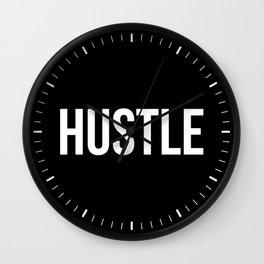 HUSTLE (Black & White) Wall Clock