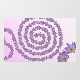 flower for greeting card Rug