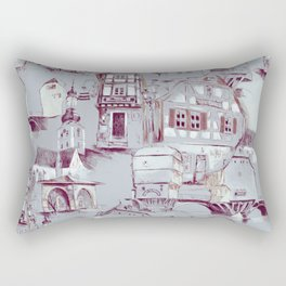 Bad Kreuznach historical buildings pattern Rectangular Pillow