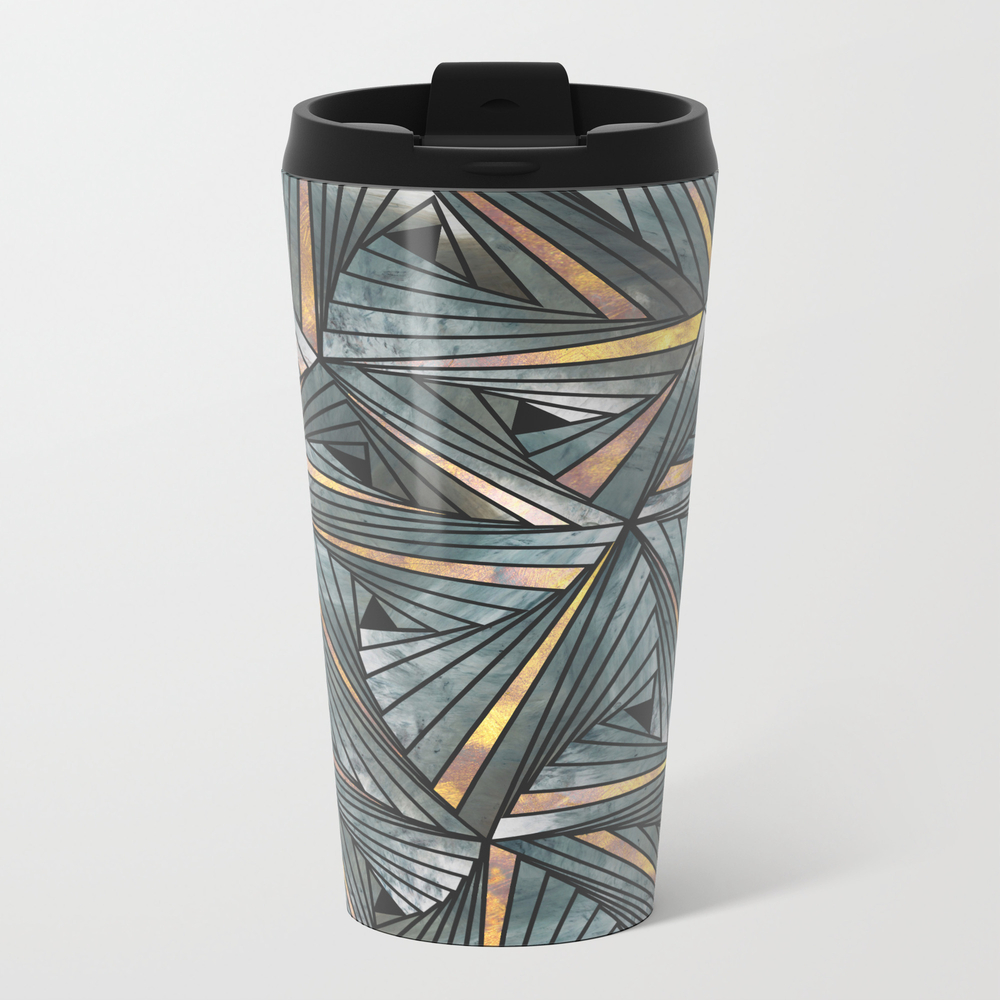 Mesh (grey And Copper) Metal Travel Mug by Angelocerantola MTM8290332