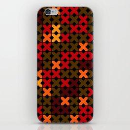 An abstract geometric pattern . Rustic . iPhone Skin