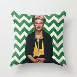 Frida Kahlo Photography I Throw Pillow