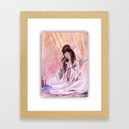 traditional Japanese watercolor Framed Art Print