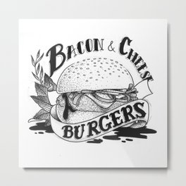 Baco & Cheese Burgers Metal Print